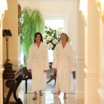 women in spa robes Golden Ocala