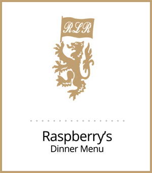 link to pdf menu of fine cuisine offered by Raspberry's