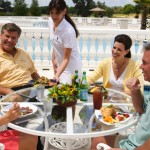 poolside dining at Golden Ocala