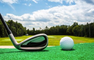 a golf ball and club, what you need to learn to golf.