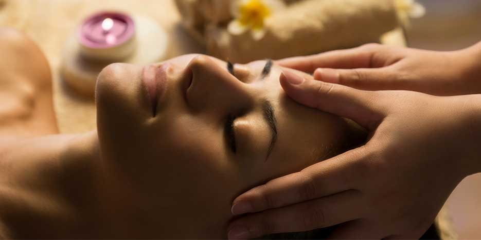 Head massage at Golden Ocala Salon and Spa