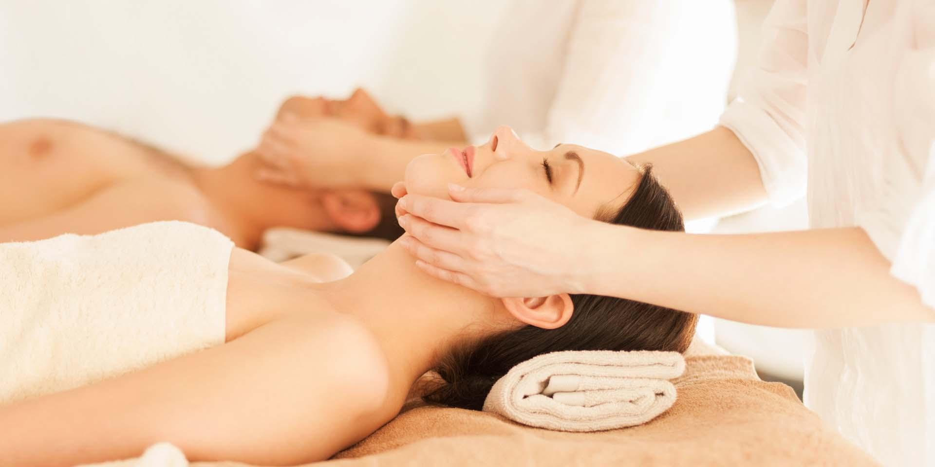 Woman getting a massage.