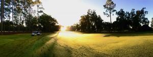 Sun Over Golf Course